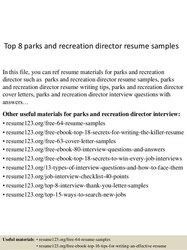 sample recreation coordinator supervisor cover letters - Mersn