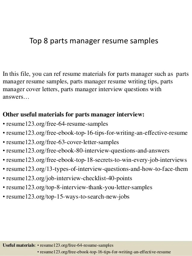 auto parts manager resume - Maggilocustdesign - automotive parts manager sample resume