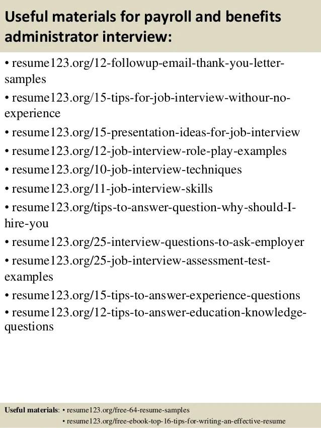 sample benefits administrator resume - Artij-plus