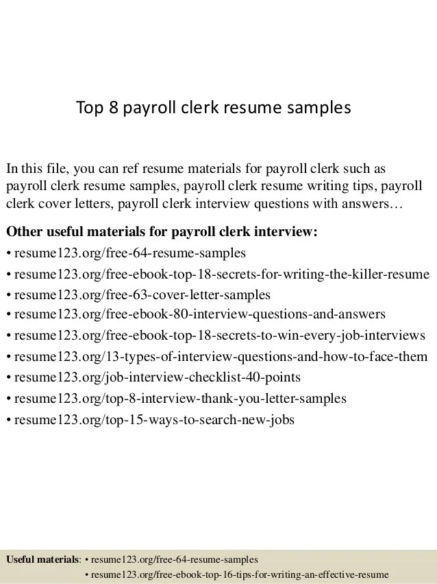 payroll clerk resumes - Ozilalmanoof - payroll practitioner sample resume