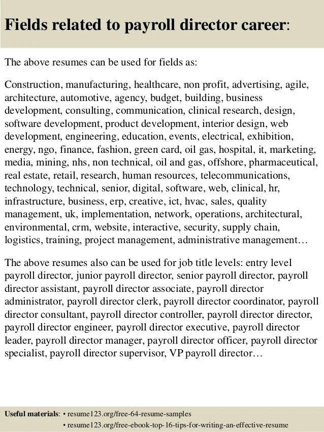 payroll resume samples - Josemulinohouse