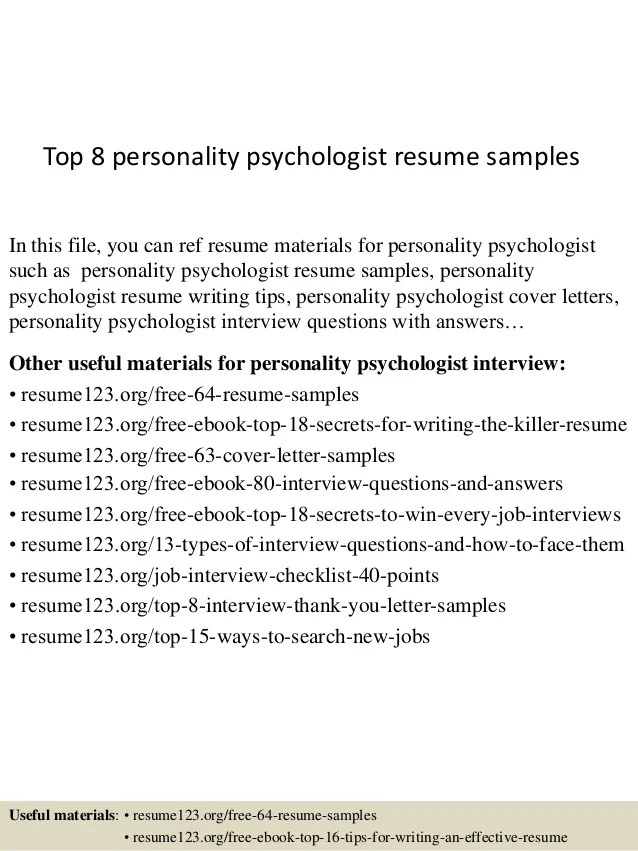 psychology resume sample - Intoanysearch