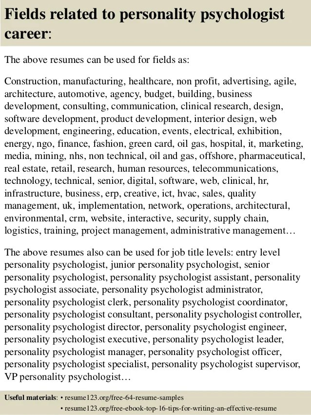 entry level psychology resumes - Goalgoodwinmetals