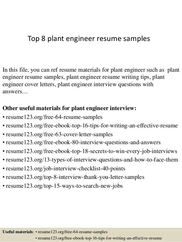 plant technical resume samples - Onwebioinnovate