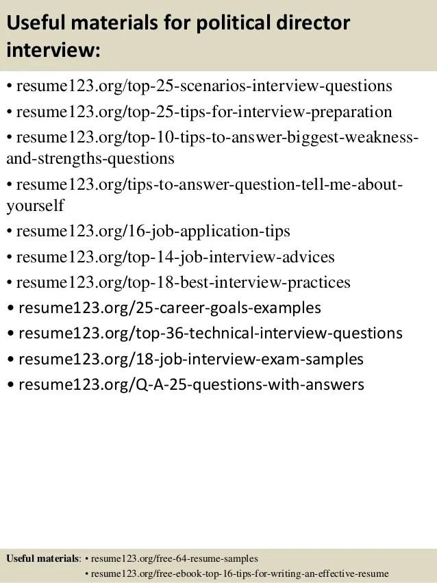 political resume - Towerssconstruction