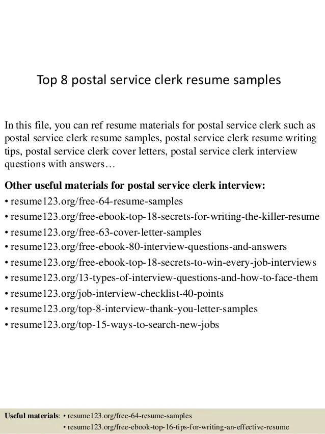 postal clerk resume sample - Doritmercatodos - postal worker sample resume