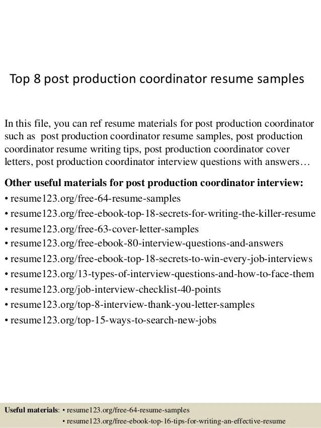 post production resume - Baskanidai