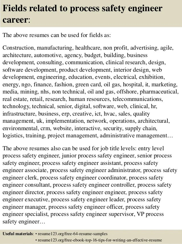 Systems Engineer Resume Example Top 8 Process Safety Engineer Resume Samples