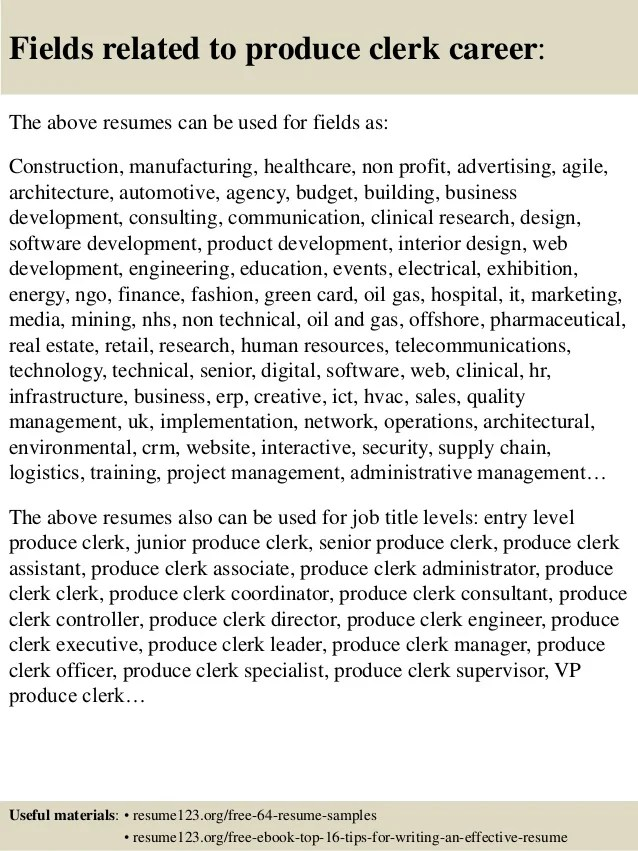 produce resumes - Doritmercatodos