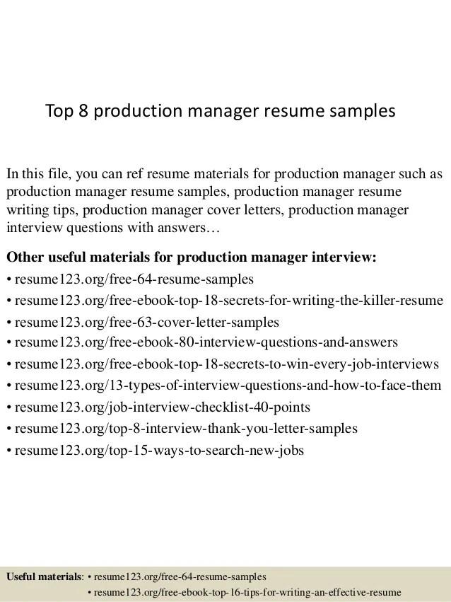 manufacturing resumes samples - Minimfagency - manufacturing resume samples