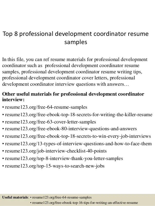 resume professional development section - Boatjeremyeaton