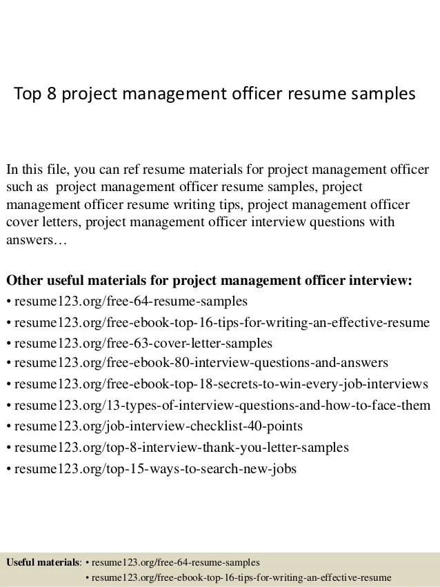 pmo sample resume - Alannoscrapleftbehind - project management sample resume