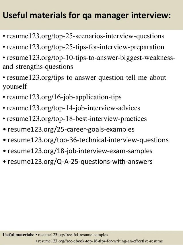 qa manager cover letter sample - Josemulinohouse