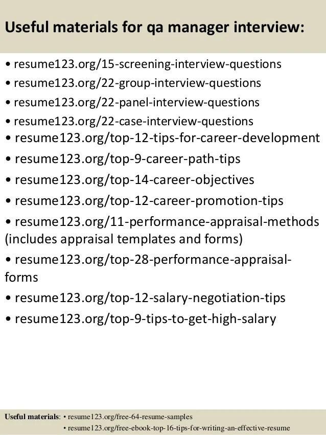qa manager resume examples - Alannoscrapleftbehind