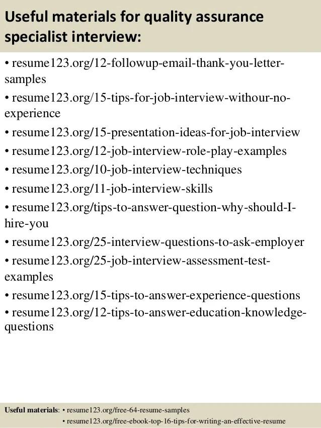qa specialist resume - Minimfagency - Sample Qa Specialist Resume