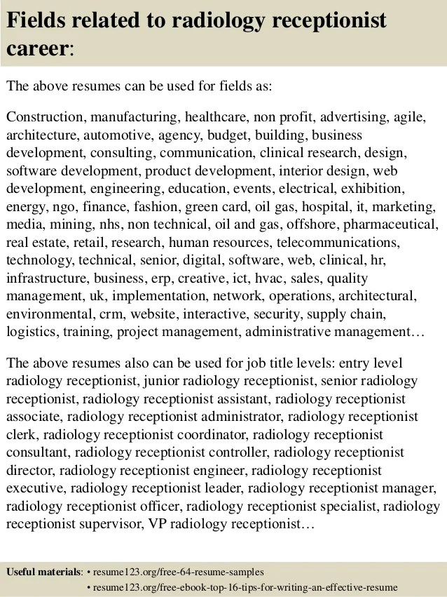 radiology resume - Jolivibramusic