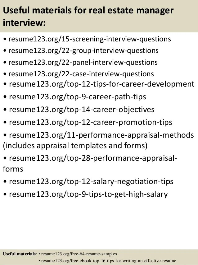 career objective for real estate resume - Josemulinohouse