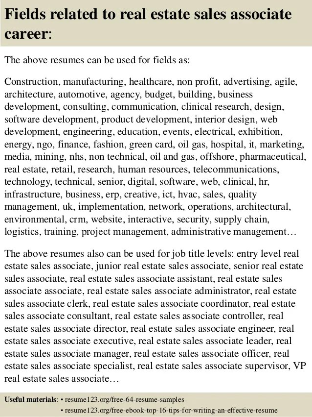 real estate agent resume sample - Minimfagency - real estate resumes