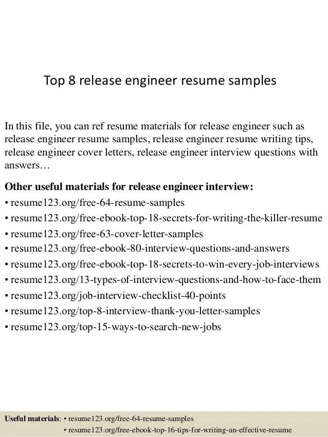release engineer resumes - Josemulinohouse - audio dsp engineer sample resume