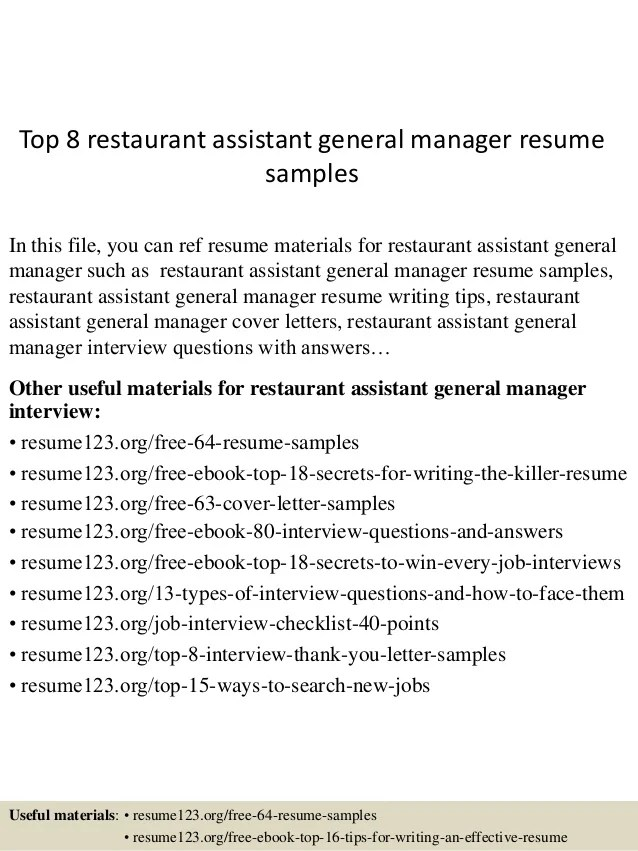 restaurant management resume examples - Akbagreenw - Restaurant Management Resume