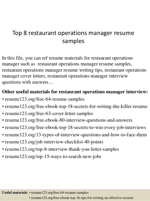 interview restaurant manager resumes - Josemulinohouse