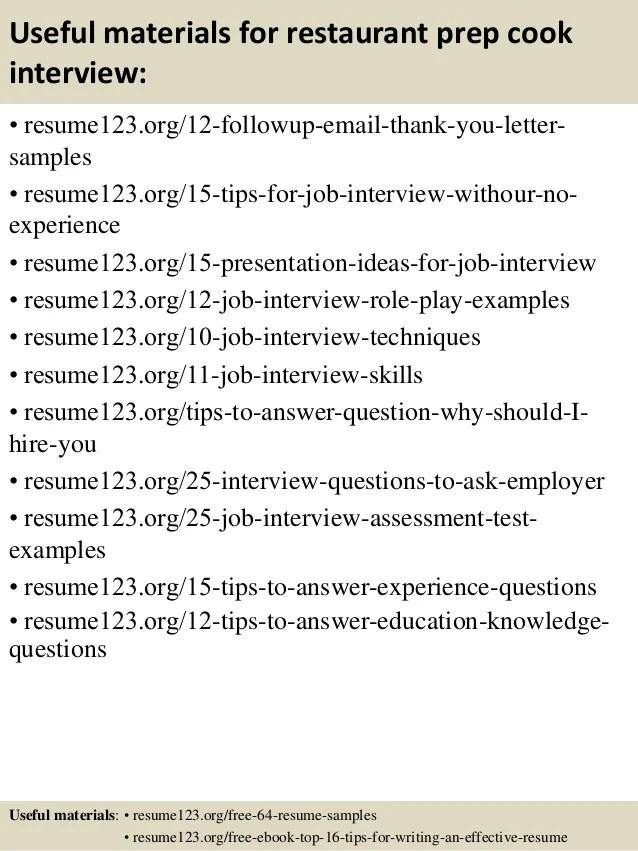 prep cook resume sample - zrom