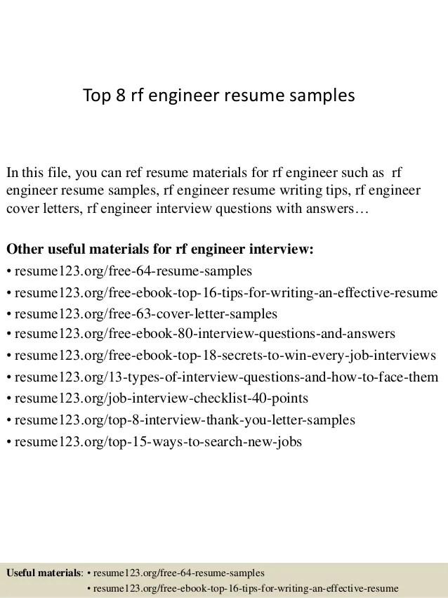 rf engineer cover letter - Artij-plus