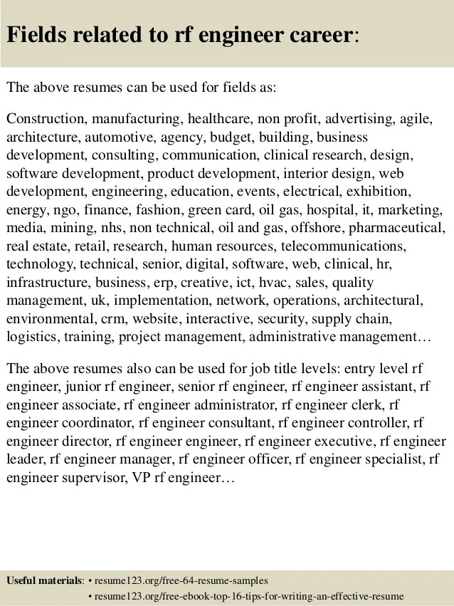 Resume-tips-resume-components-objective-rf-engineer-resume-objective - play specialist sample resume