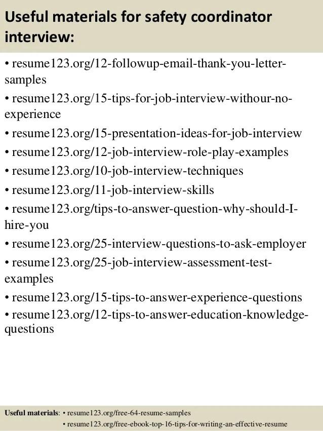 resume for education coordinator