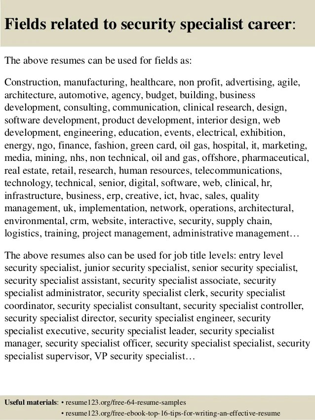 security resumes samples - Minimfagency - comsec manager sample resume