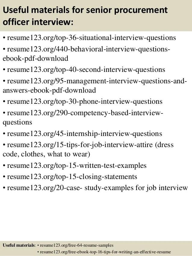 sample resume for procurement officer