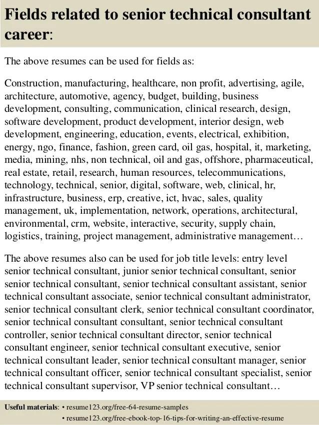 technical consultant cv - Roho4senses - junior sap consultant resume