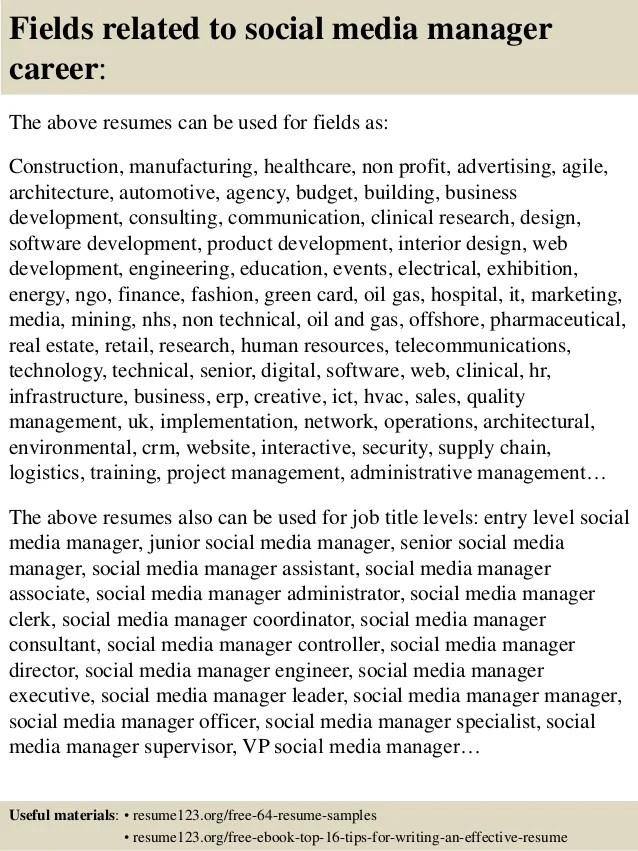 social media manager resume samples - Romeolandinez - media resume