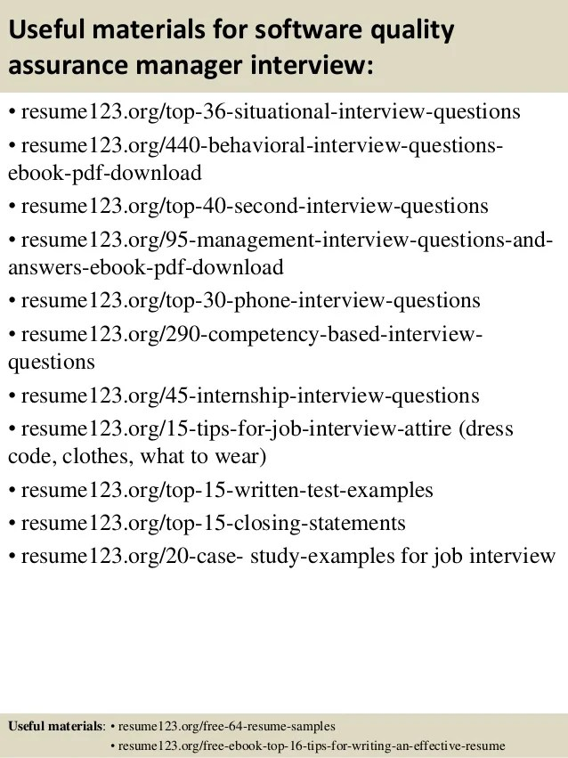 quality assurance sample resume - Minimfagency