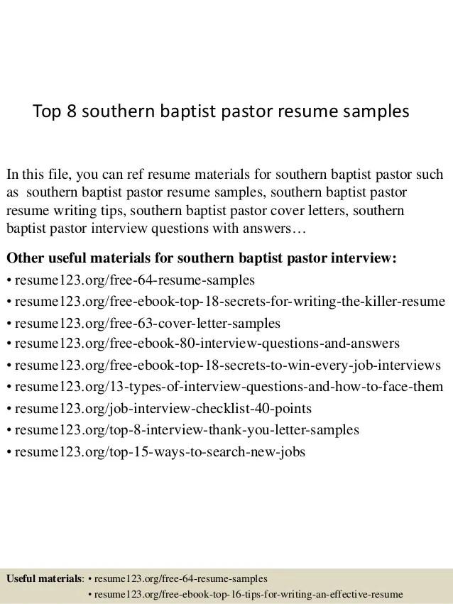 sample pastoral resume - Josemulinohouse