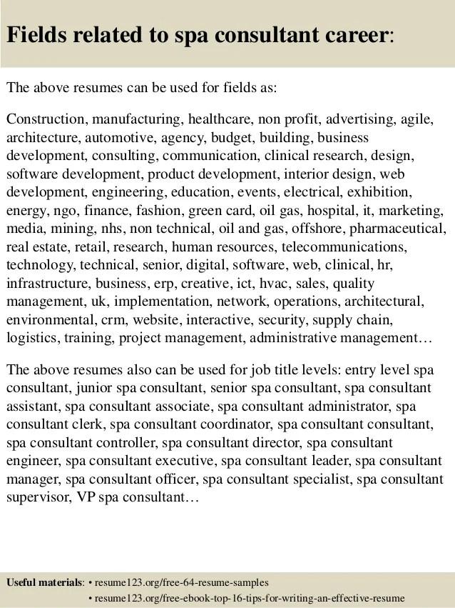 spa resume sample - Towerssconstruction