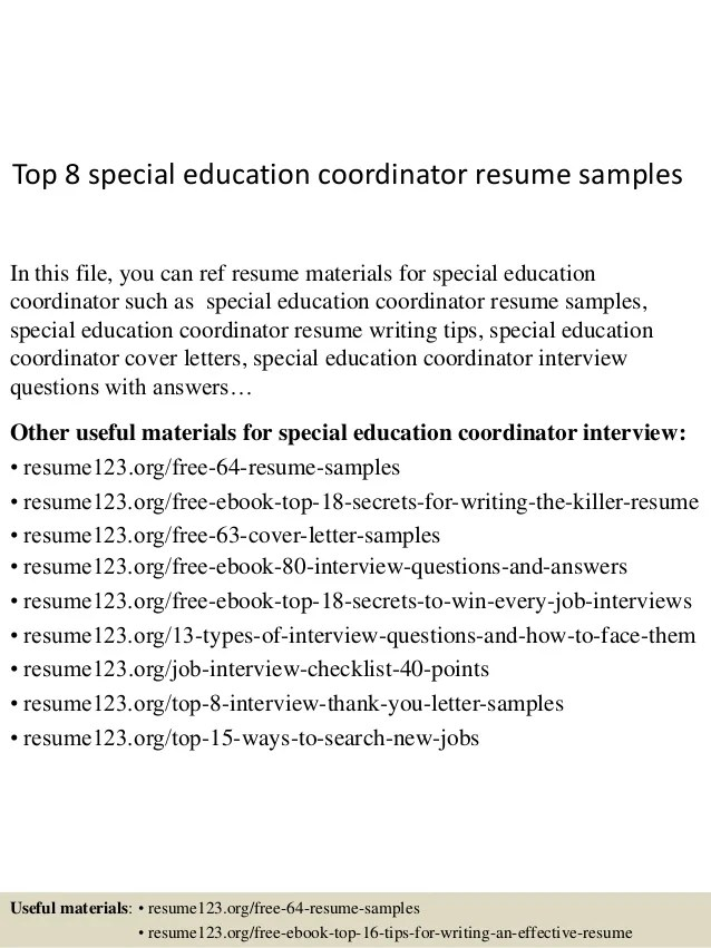 special education resume samples - Jolivibramusic