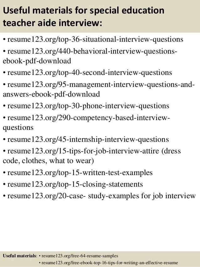 Special Education Teacher Interview Questions Teacher Interview
