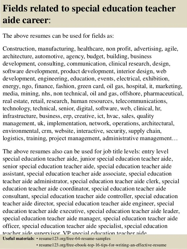 special education teacher assistant resume - Goalgoodwinmetals - special education assistant resume