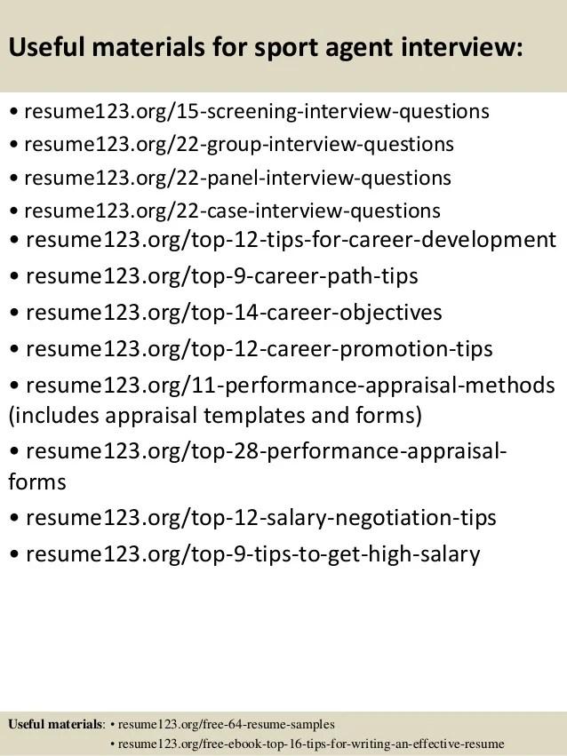 Top 8 sport agent resume samples 1 638jpgcb1432733994 - sports agent sample resume