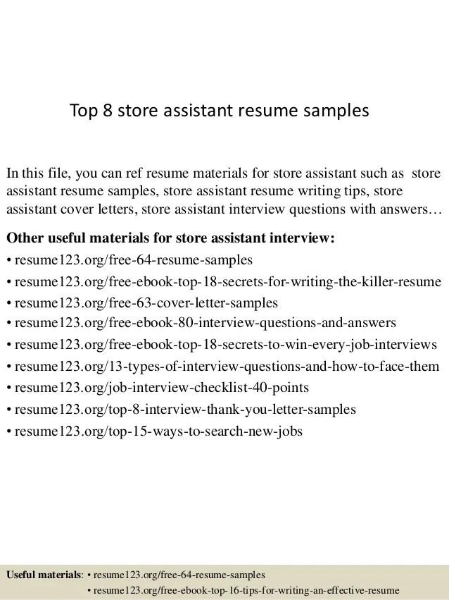 shop assistant resume sample - Josemulinohouse - store assistant sample resume