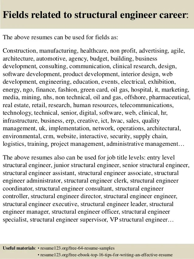 structural engineer resume samples - zrom
