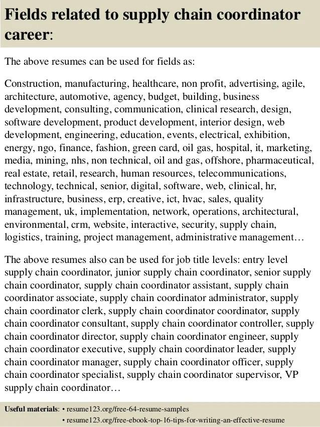 supply chain resume sample supply chain manager resume samples - medical support assistant resume