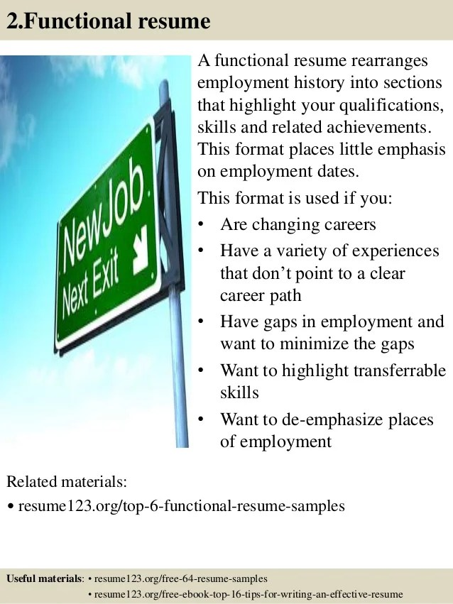 resume changing careers