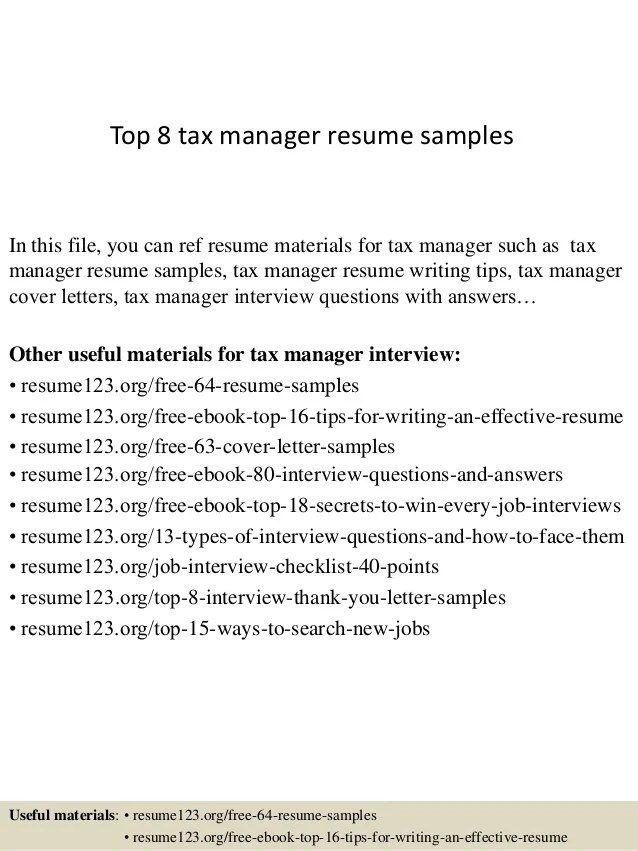 tax manager cover letter - Yenimescale