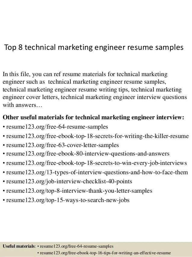 technical engineer resume - Onwebioinnovate