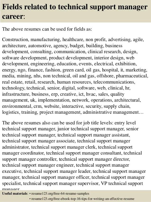 support manager resumes - Ukransoochi