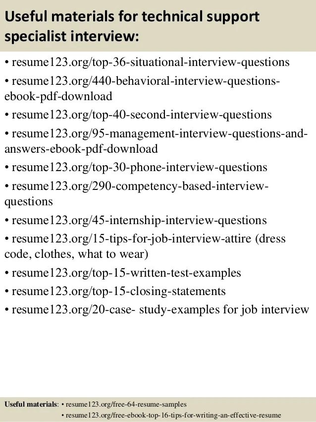 technical support resume examples - Josemulinohouse