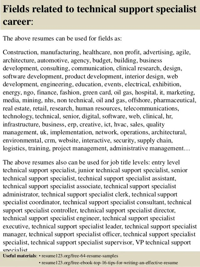 tech support resume examples - Acurlunamedia - Application Support Resume Sample