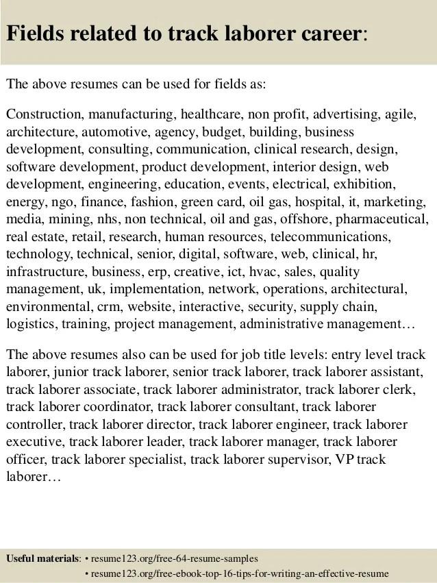 resume laborer - Alannoscrapleftbehind